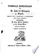 Poesías escogidas de D. Luis de Góngora y Argote, dadas á luz