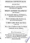 Poesias Espirituales escritas por Luis de León Velazquez. etc