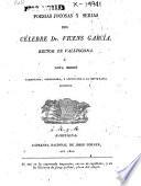 Poesias jocosas y serias del ce̲lebre Dr. Vicens Garci̲a, Rector de Vallfogona
