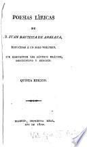 Poesías líricas de D. Juan Bautista de Arriaza