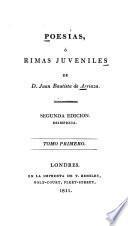 Poesías, ó, Rimas juveniles de D. Juan Bautista de Arriaza