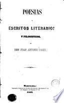 Poesías y escritos literarios y filosóficos, 1
