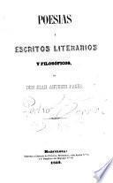Poesias y escritos literarios y filosóficos