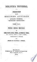 Poesiʹas liʹricas mejiʹcannas de Isabel Prieto, Rosas, Sierra, Altamirano, Flores, Riva Palacio, Prieto y otros autores