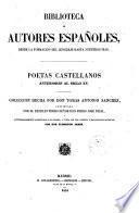 Poetas castellanos anteriores al siglo 15