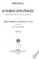 Poetas líricos de los siglos 16. e 17. colección ordenada por don Adolfo de Castro