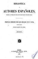 Poetas liricos de los siglos XVI y XVII, coleccion ordenada por Adolfo de Castro ; tomo 2