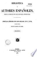 Poetas liricos de los siglos XVI y XVII.