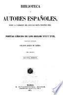 Poetas líricos de los siglos XVI y XVII.