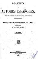 Poetas líricos de los siglos XVI y XVII