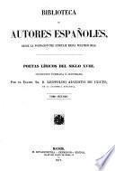 Poetas liricos del siglo 18. coleccion formada e ilustrada por ... Leopoldo Augusto de Cueto
