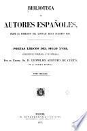 Poetas liricos del siglo XVIII.