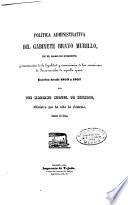 Política administrativa del gabinete Bravo Murillo, en el ramo de Fomento