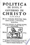 Politíca de Dios y Gobiero de Cristo