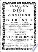 Politica de Dios y govierno de Christo nuestro Señor