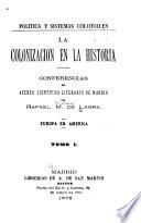 Política y sistemas coloniales