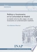 Políticos y funcionarios en la Comunidad de Madrid