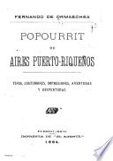 Popourrit de aires Puerto-Riqueños
