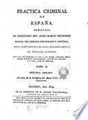Practica criminal de España, 2