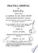 Práctica Criminal de España..., 2