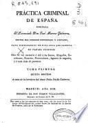 Práctica criminal de España