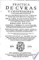 Práctica de curas y confessores, y doctrina para penitentes
