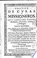 Practica de curas y missioneros