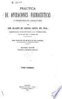 Práctica de operaciones farmacéuticas o enseñanza de laboratorio
