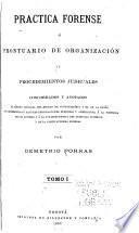 Práctica forense o prontuario de organización