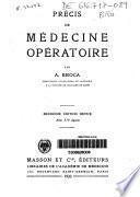 Précis de médecine opératoire