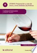 Preparación y cata de vinos y otras bebidas alcohólicas. HOTR0209
