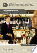 Preparación y servicio de bebidas y comidas rápidas en el bar. HOTR0208