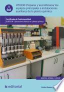 Preparar y acondicionar los equipos principales e instalaciones auxiliares de la planta química. QUIE0108