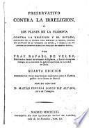 Preservativo contra la irreligión o los planes de la filosofía contra la Religión y el Estado