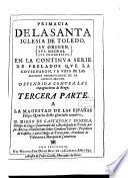 Primacia De La Santa Iglesia De Toledo