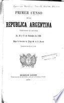 Primer censo de la República Argentina