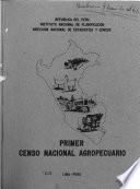 Primer censo nacional agropecuario