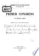 Primer Congreso en Buenos Aires