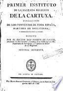 Primer instituto de la Sagrada Religión de la Cartuxa