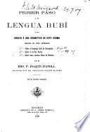 Primer paso á la lengua bubí [in Fernando Póo]