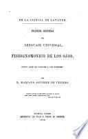 Primer sistema del lenguaje universal, fisiognomonico de los ojos