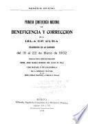 Primera Conferencia Nacional de Beneficencia y Corrección de la Isla de Cuba