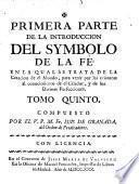 Primera parte de la introduccion del symbolo de la fe ...