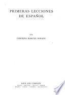 Primeras lecciones de español
