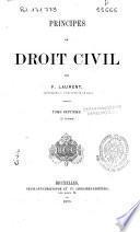 Principes de Droit Civil français