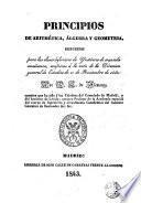 Principios de Aritmética, Algebra y Geometría