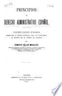 Principios de derecho administrativo español