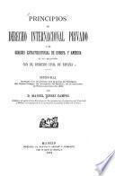 Principios de derecho internacional privado ...