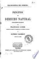 Principios de derecho natural