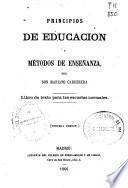 Principios de educación y métodos de enseñanza